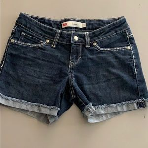 Levi's Jean Mid Shorts Size 3 GUC! Dark denim